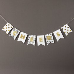 Personalized Mini Gold Glitter Banner