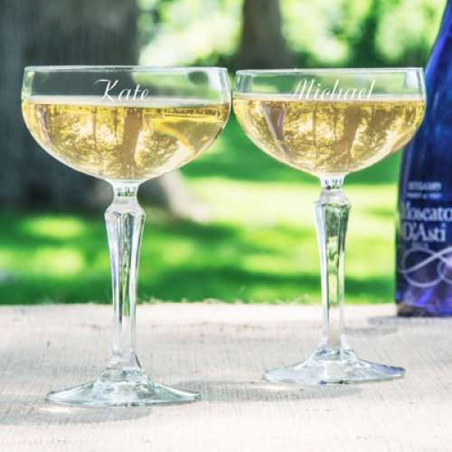 Personalized Champagne Coupe Flutes
