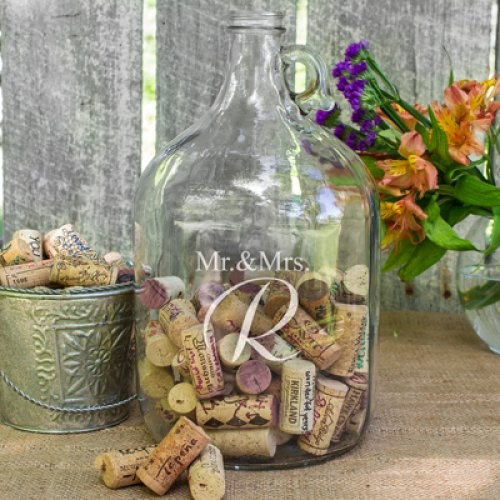 Personalized Bottle Wedding Wishes Guest Book