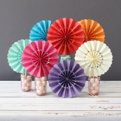 Pinwheel Paper Hand Fans