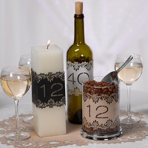 Laser Cut Table Number Wraps