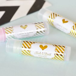 Personalized Metallic Foil Lip Balm