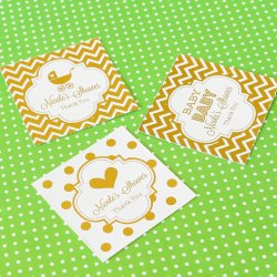 Personalized Baby Shower Metallic Foil Favor Tags