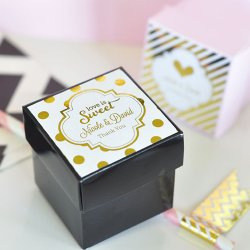 Personalized Metallic Foil Square Labels