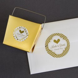 Personalized Metallic Foil Round Labels