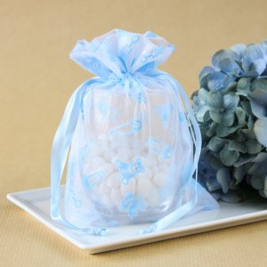 Baby Shower Print Organza Bags