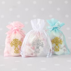 Religious Cross Organza Bags