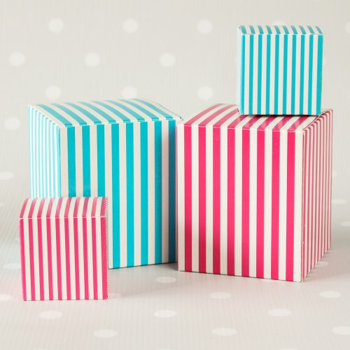 Blue and Pink Striped Favor Boxes