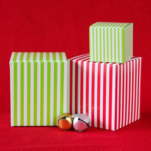 Christmas Striped Favor Boxes