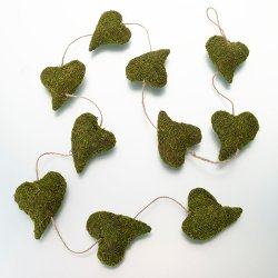 Moss Heart Garland