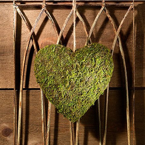 Hanging Moss Heart Decoration