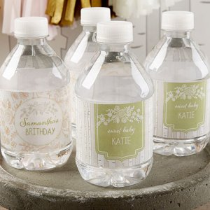 Personalized Birthday Themed Water Bottle Label