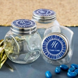 Personalized Milestone Birthday Candy Jars