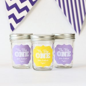 Personalized Milestone Birthday Mason Jars