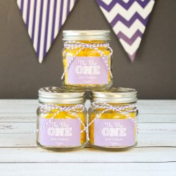 Personalized Milestone Flower Lid Mason Jar
