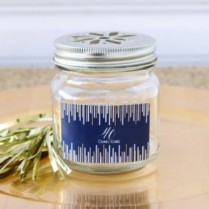 Personalized Milestone Birthday Flower Lid Mason Jar