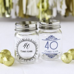 Printed Birthday Mini Mason Jars