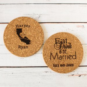 Personalized Cork Trivets