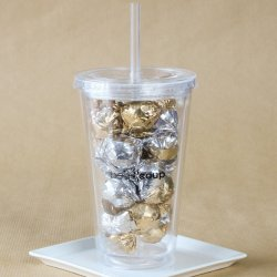 Custom Tumblers with Candy Filling