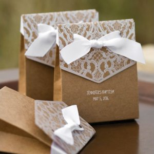 Personalized Vintage Tent Favor Boxes