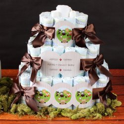 Personalized Baby Shower Diaper Cake