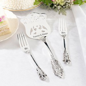 Personalized Cake Server and Forks Set