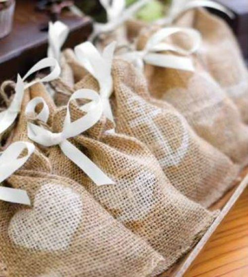 Themed Burlap Favor Bags
