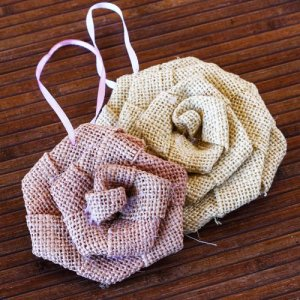 Rolled Burlap Flowers