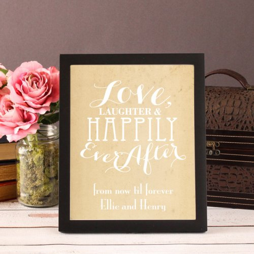 Personalized Love Laughter Exclusive Art Print