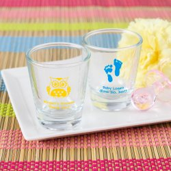 Personalized Baby Shower Shot Glasses