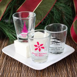 Personalized Holiday Shot Glasses
