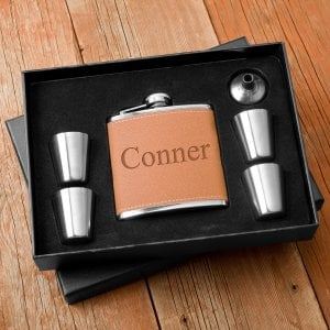 Personalized Flask and Shot Glass Set