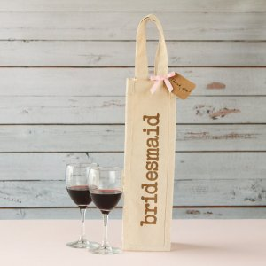 Bridal Cotton Wine Tote