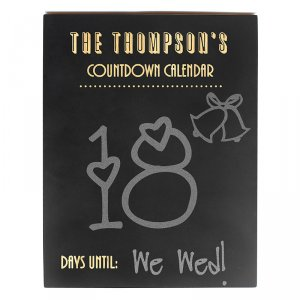 Personalized Chalkboard Countdown Sign