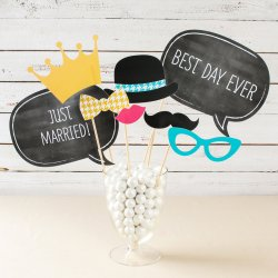 Personalized Photo Booth Props