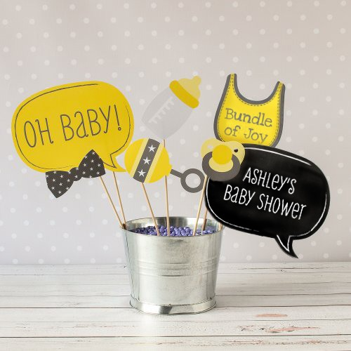 Personalized Photo Booth Baby Shower Props