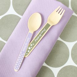Personalized Birthday Wooden Utensils