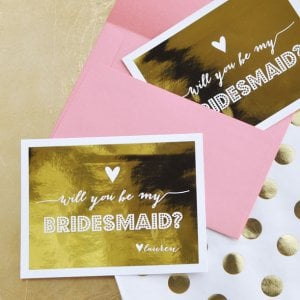 """Will You Be My Bridesmaid/Maid of Honor"" Personalized Cards"