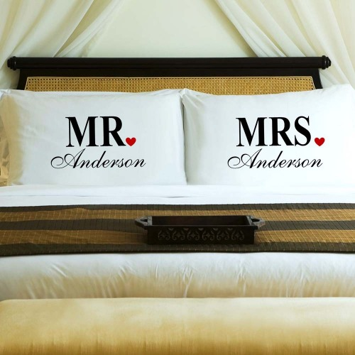 Personalized Couples Pillowcase Set
