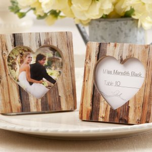 Faux-Wood Place Card Holder/Photo Frame