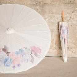 Floral Paper Parasol