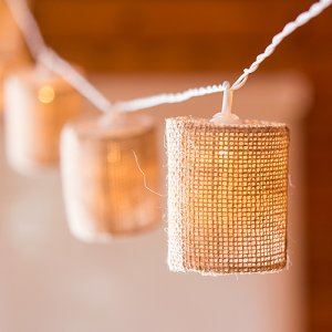 Burlap Shade String Lights