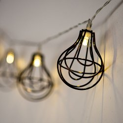 Wire Cage String Lights