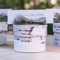 Cylinder Birch Favor Boxes