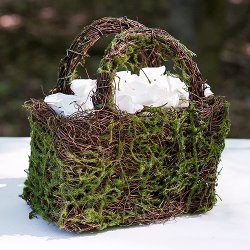 Moss And Wicker Basket