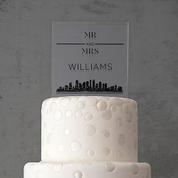 Personalized Square Cake Topper