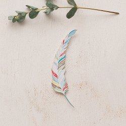 Paper Feather Decorations