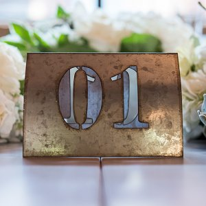 Metal Table Numbers