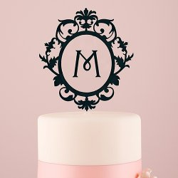 Floating Monogram Cake Topper