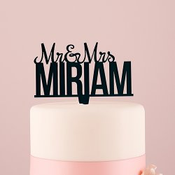 Personalized Mr. and Mrs. Cake Topper